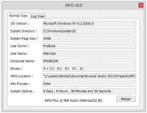 معرفی نرمافزار iNFO برای مشاهده اطلاعات سیستمی
