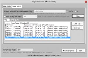 مانیتورینگ و نظارت بر روی پینگ یک آدرس دلخواه و ذخیره Log و گزارش آن در قالب فایل متنی txt