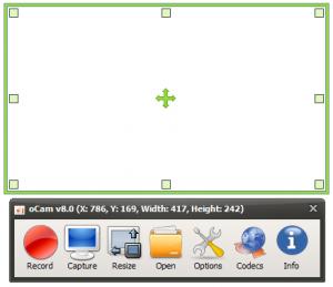 با oCam از صفحه خود با Codec دلخواه فیلم و عکس بگیرید
