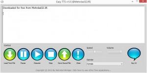 تصویری از محیط نرم افزار EasyTTS نسخه اول