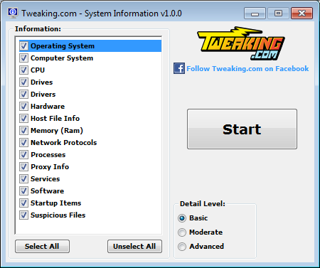 شناسایی اطلاعات سیستم عامل با نرم افزار System Information Tool