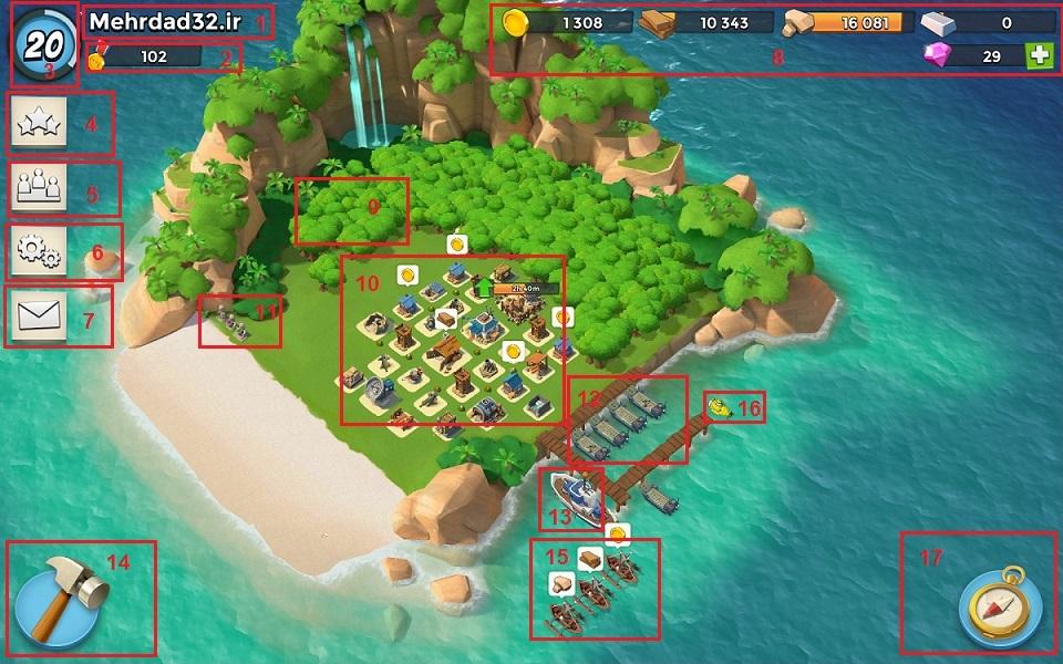 تصویر شماره 1) محیطی از جزیره - برای نمایش در اندازه بزرگ روی تصویر کلیک نمایید