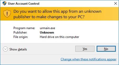 سوال امنیتی برای نرمافزار غیر رسمی