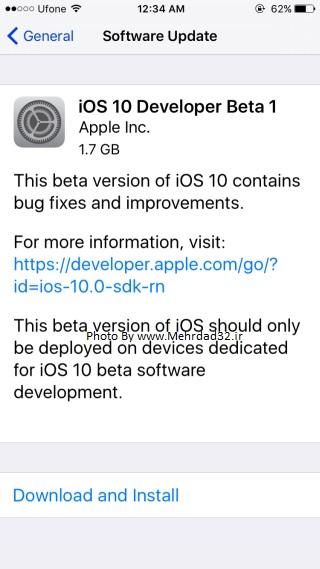 مرحله سوم نصب iOS 10