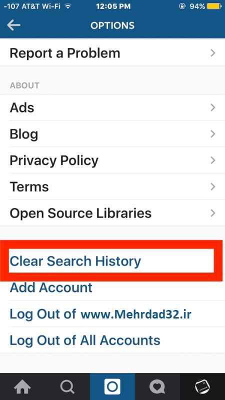 آموزش پاک کردن موارد جستجو شده در اینستاگرام
