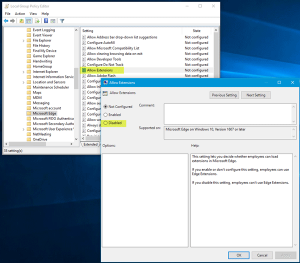 غیرفعال سازی نصب خودکار افزونه در مرورگر Edge