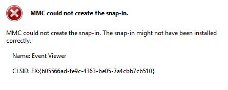 رفع مشکل MMC could not create the snap-in